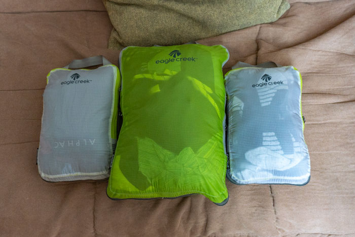The best packing cubes for backpacking: Eagle Creek Compression Cubes!
