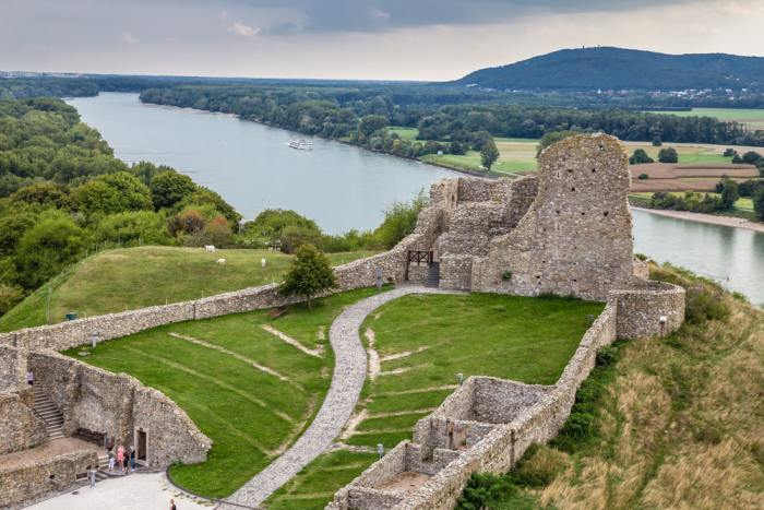 Devin Castle is a possible day trip from Bratislava