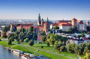 Krakow's beautiful skyline