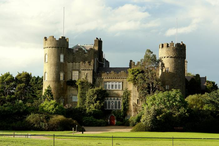 Malahide Castle is the first stop on the Dublin to Belfast drive