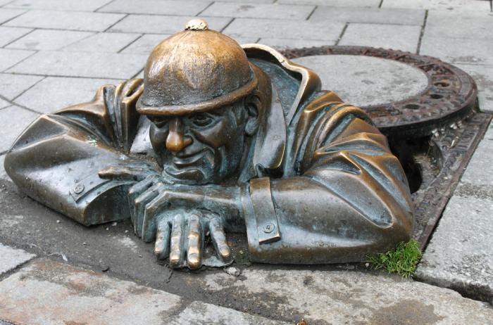 Man at Work Sculpture in Bratislava
