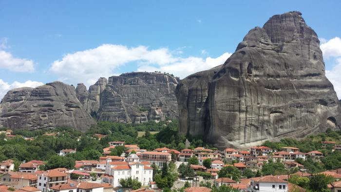 The start of the hike to Meteora