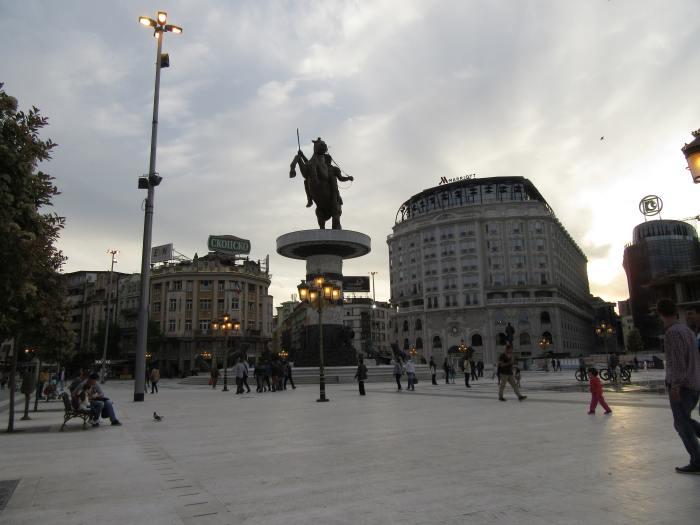 Skopje at dusk