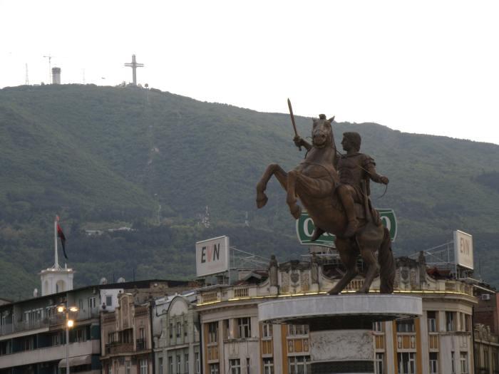 Alexander the Great Statue in Skopje
