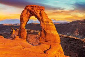 Stunning Arches National Park is a must visit when driving from Las Vegas to Denver