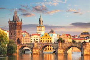 Famous Charles Bridge in Prague