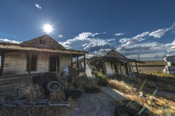 Ghost Town of Cisco is a must stop on a Denver to Las Vegas road trip