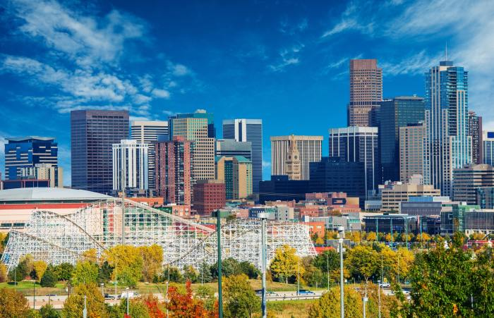 Sunny Day in Downtown Denver