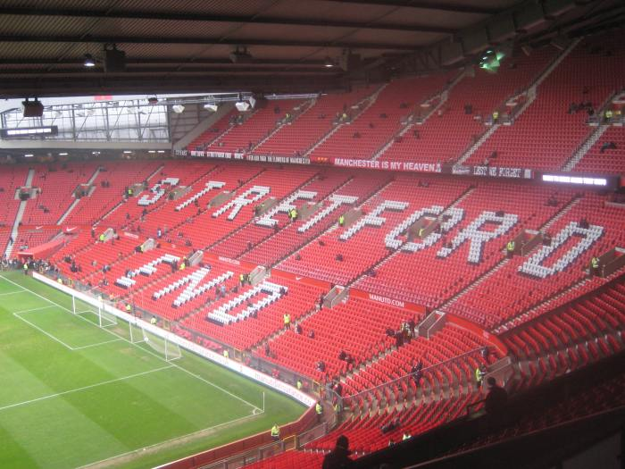 Inside Old Trafford - the home of Man U!