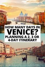 How Many Days in Venice? Planning a 2, 3 or 4-Day Itinerary