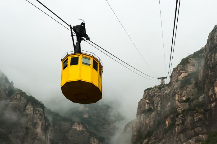 Visiting Montserrat from Barcelona by cable car