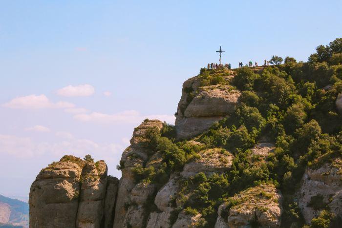 Cross of Saint Michael near Santa Maria de Montserrat Monastery