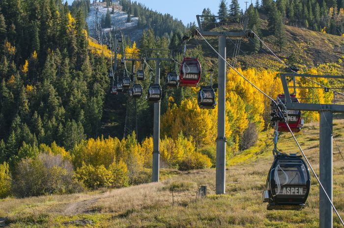 Aspen Ski Lifts in autumn