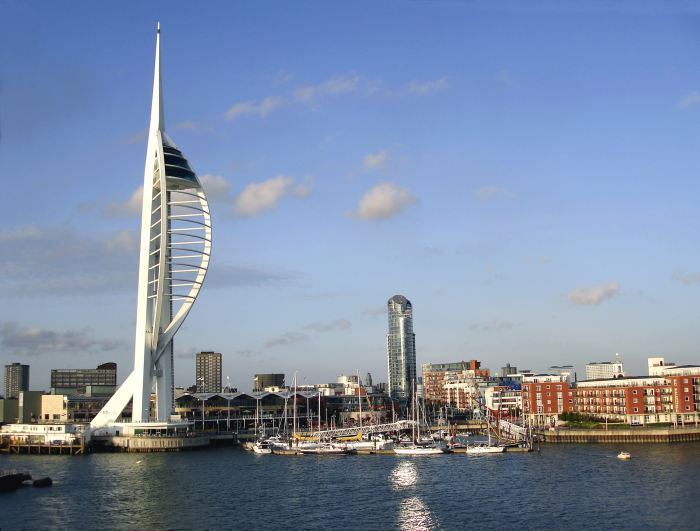 Portsmouth is the first stop on a London to Cornwall drive