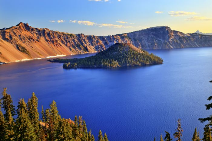 Crater Lake National Park is a great stop on a Seattle to LA road trip