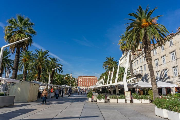 Strolling down Split Promenade is a relaxing addition to your Split itinerary