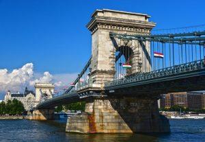 Chain Bridge seperating Buda and Pest
