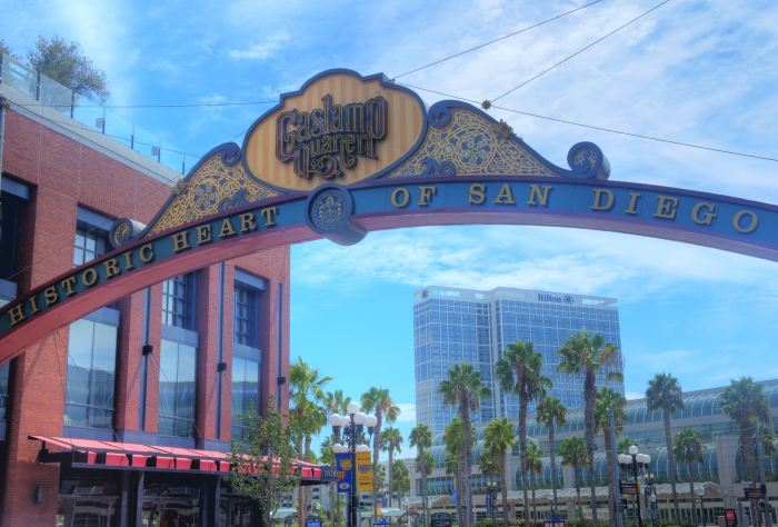 Gaslamp sign San Diego