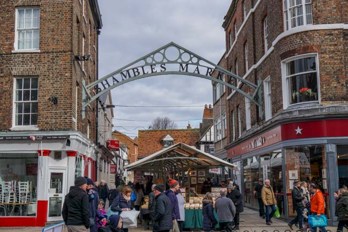 Shambles Market is a great lunch stop on a York day trip