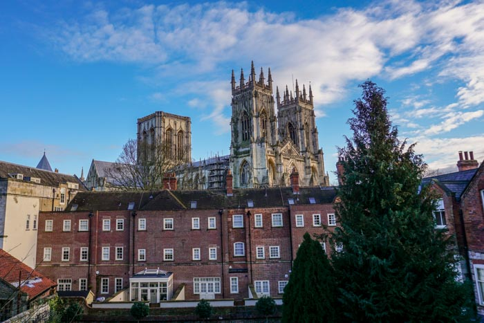View of the York Minster from the City Walls