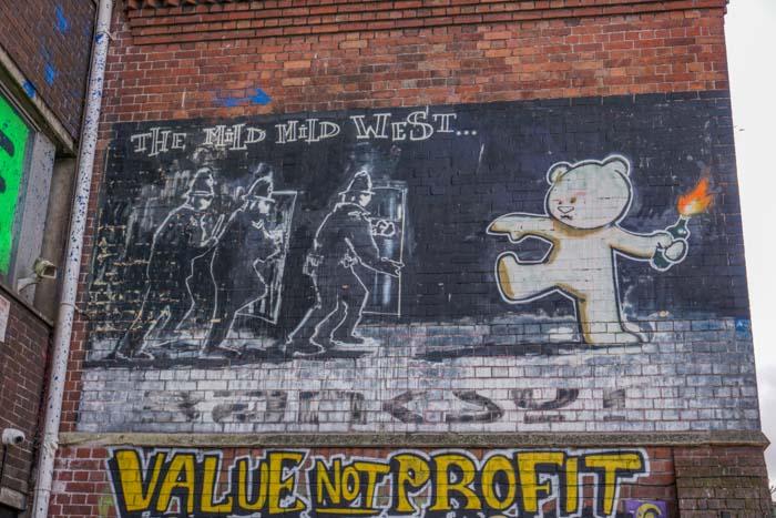 The Mild Mild West - Banksy Street Art in Bristol