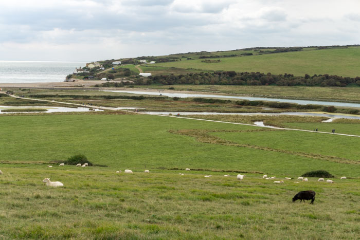 Walking along the Cuckmere River