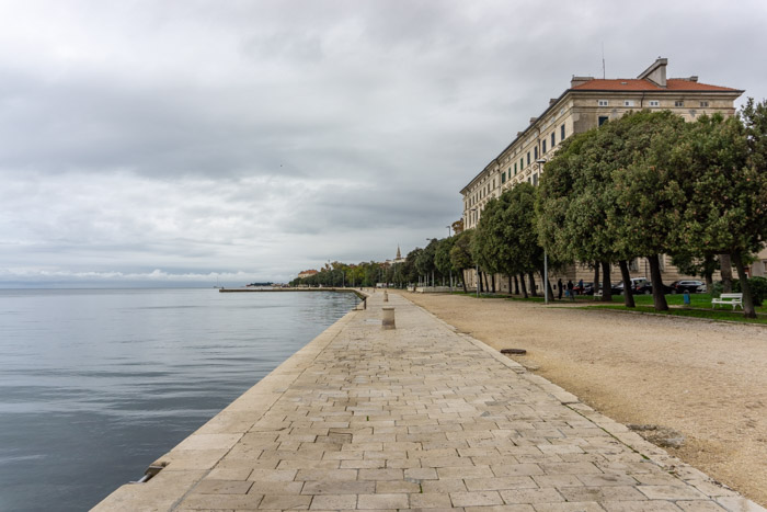 Walk along the harbour on your one day in Zadar - even if its cloudy!