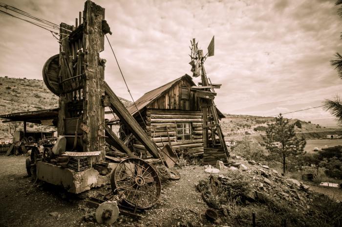 Ghost Town in Jerome, Arizona