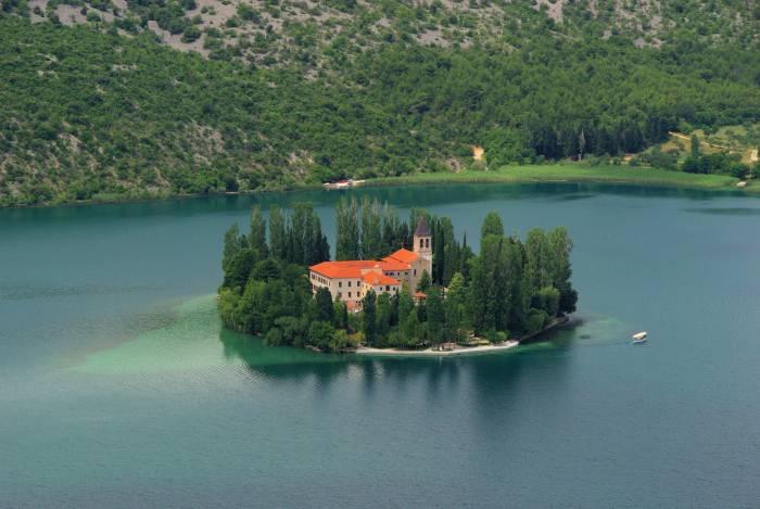 Monestary on Visovac Island in Krka