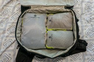 Packing with the Eagle Creek Compression Cubes - one of the best packing cubes for backpacking