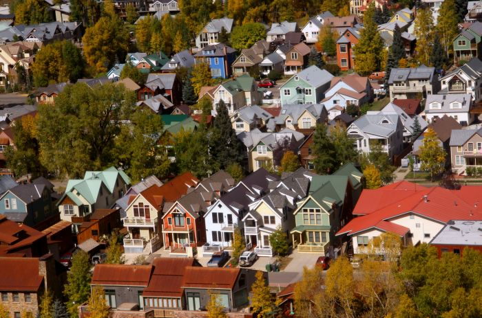 Victorian houses in Telluride