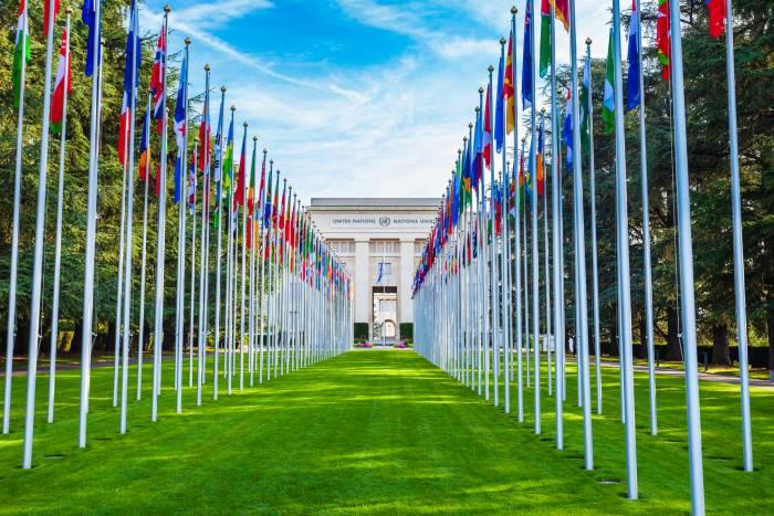 Palais des Nations building in Geneva
