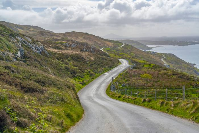Driving along the Sky Road in Connemara