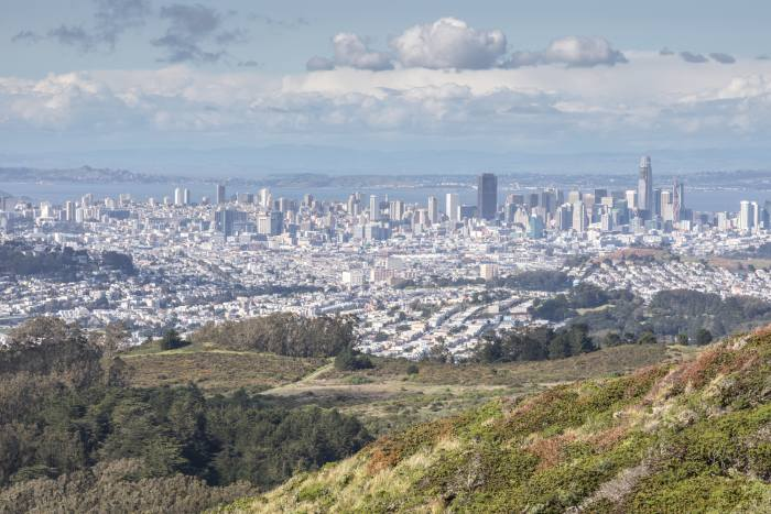 View of San Francisco from San Bruno Mountain