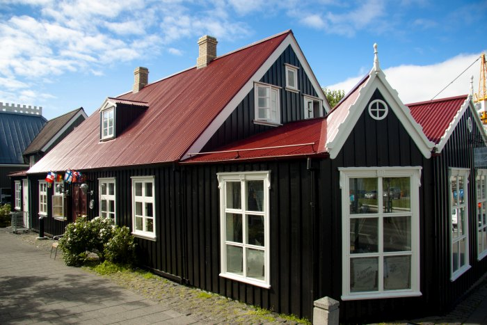 Old nordic house in Reykjavik