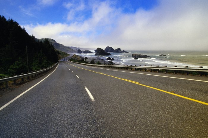 Driving along the Oregon Coast from Portland to San Francisco