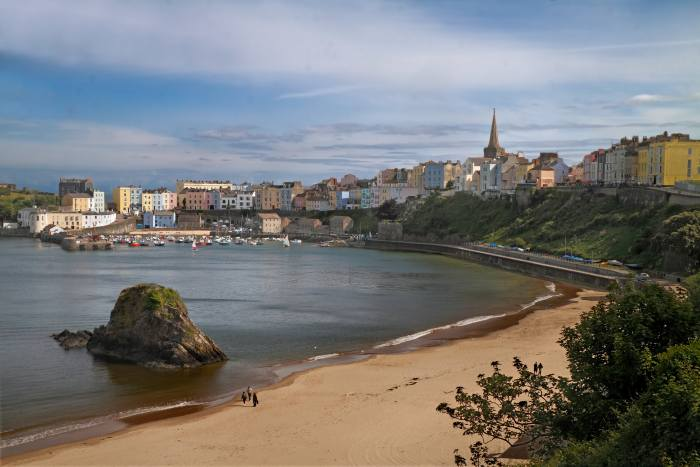 The seaside town of Tenby