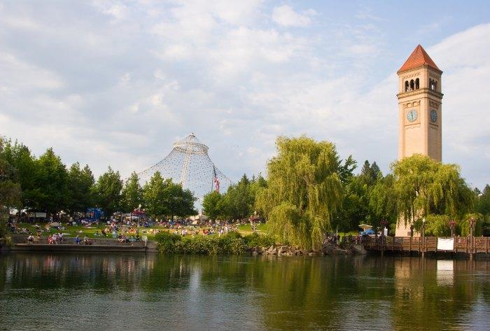 Clock Tower in Spokane