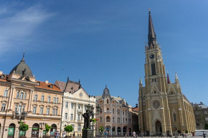 Name of Mary Church from Novi Sad's Main Square