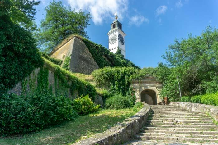 Walking up to the Petrovaradin Fortress in Novi Sad