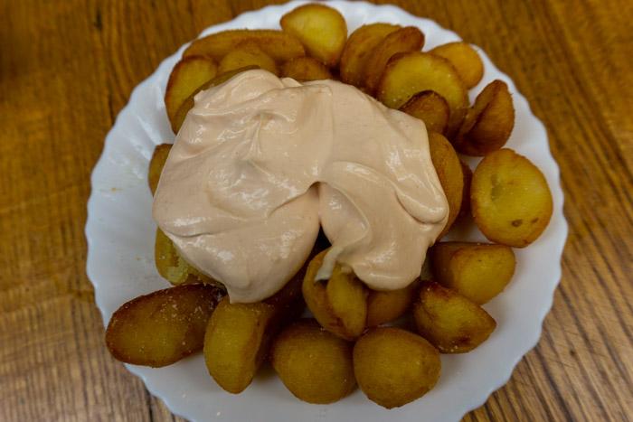 Delicious and affordable Patatas Bravas in Malaga