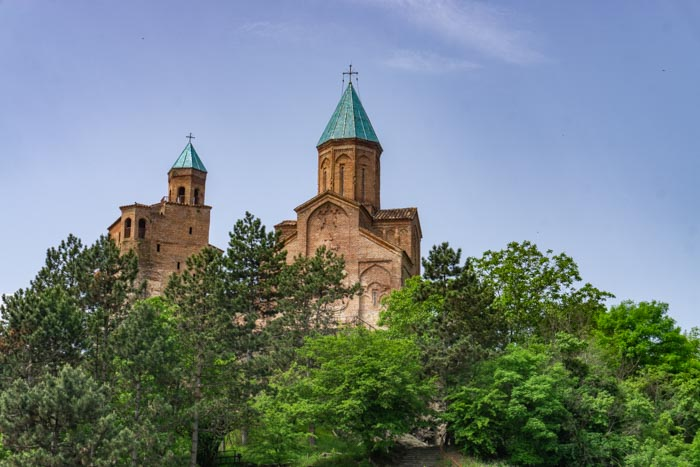 Zooming in on the Gremi Church in Kakheti, Georgia