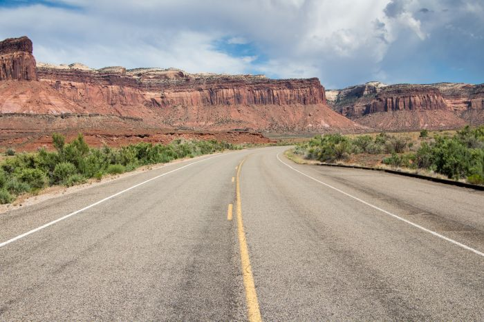 Driving to Canyonlands National Park