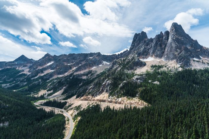 Washington Pass Overlook in Okanogan National Forest