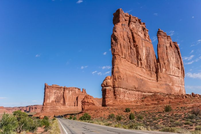 The Courthouse Towers in Arches
