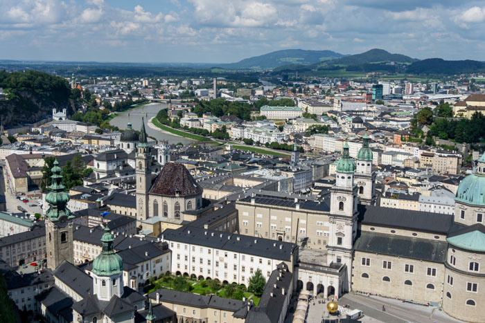 Salzburg from the Hohensalzburg Fortress