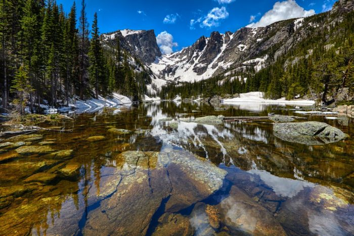 Dream Lake in the Rocky Mountain National Park