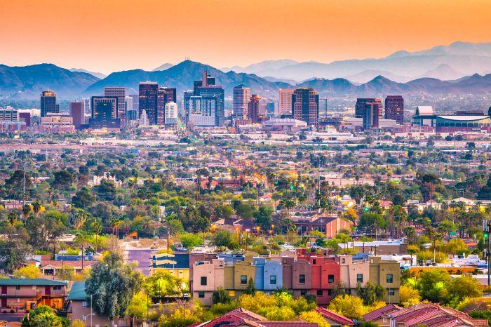 Phoenix at dusk