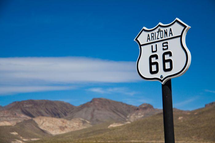 Historic Route 66 in Arizona