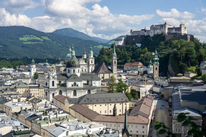 The beautiful city of Salzburg